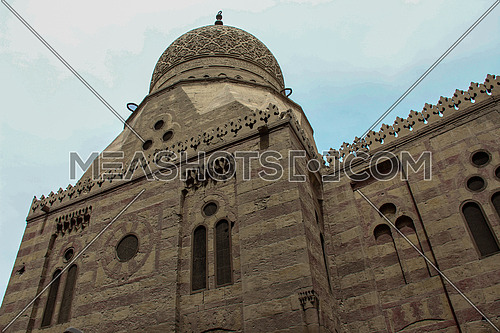 a photo for a historical mosque named the blue mosque or sonkor mosque in old Cairo, Egypt