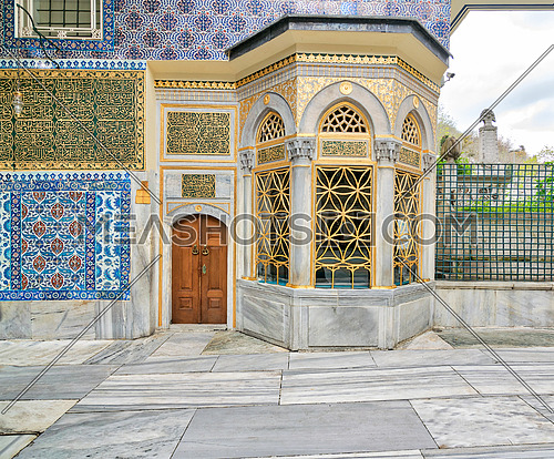 Exterior view of the shrine of Hazrat Abu Ayub Ansari, Eyup Sultan MosqueIstanbul, Turkey