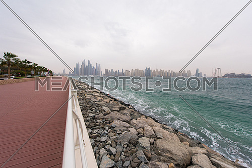 DUBAI UAE 2 FEBRUARY 2017 Dubai Marina waterfront  united arab emirates