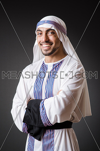 Arab in the dark room