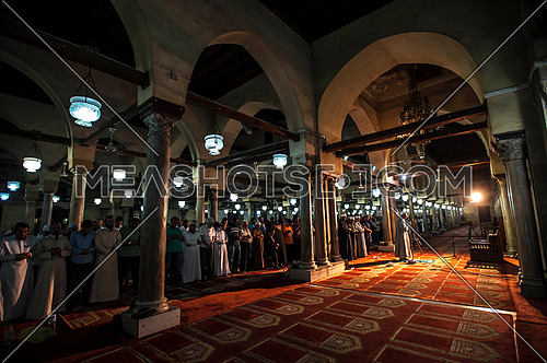 Tarawih prayers in Al-Azhar mosque