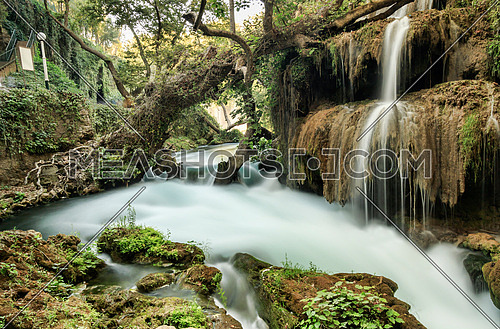 The beautiful Duden Waterfalls located near Antalya, Turkey. One of the most beautiful recreational spots in Turkey.