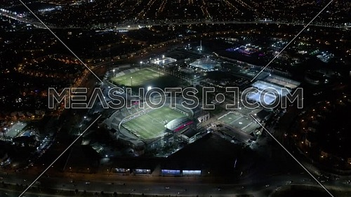Aerial shot for Petro Sport Club at New Cairo,  Egypt at night