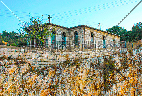 House on a cliff in the Jezzine town in Lebanon