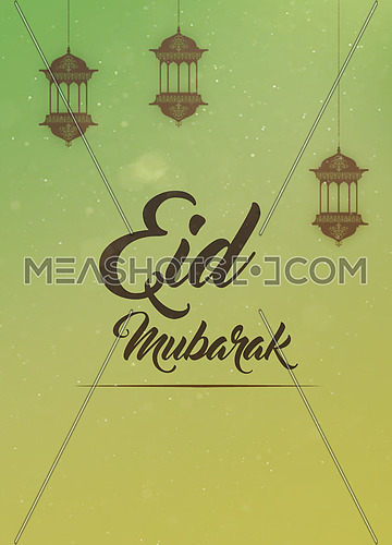 Greeting card for Eid mubarak muslim holiday