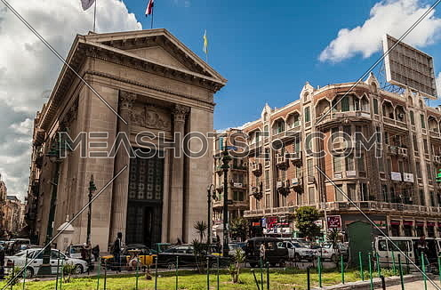 Track Right shot for Stock Market Bulding in Alexandria at Day