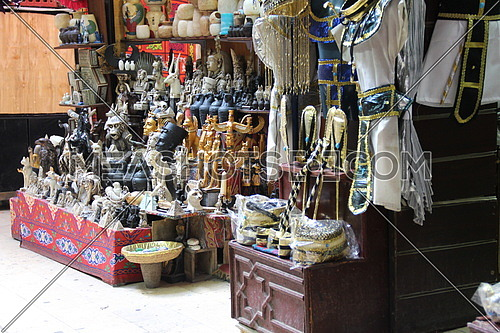 a photo from old Cairo for a gifts shop selling handicrafts and oriental gifts