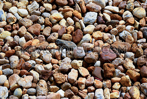 Closeup Texture Background Image of Natural rock or Stone arrange in Pattern as Wall. Natural Stone Wall Texture.
