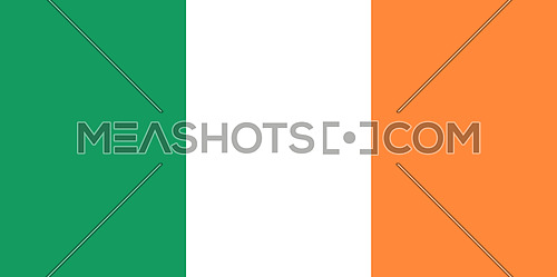Flag Of Ireland 3D illustration