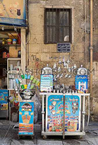 local juice bar, Moez Street, Cairo, Egypt. One of the traditions of Egypt