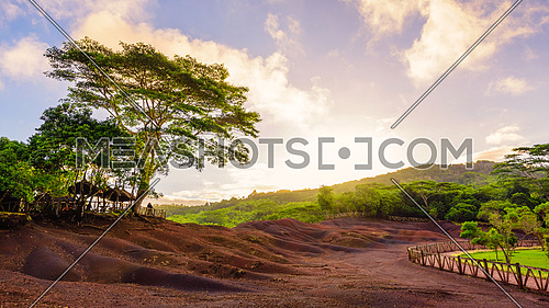 Chamarel seven coloured earths.Natural park,the most famous tourist place of Mauritius island.