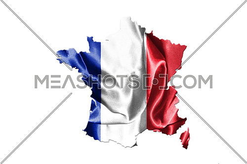 Map Of France Isolated On White Background 3D Illustration