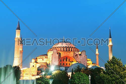 Famous Blue Mosque in Istanbul