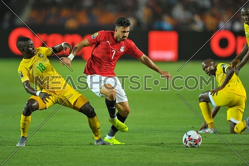CAIRO, EGYPT - JUNE 21: Mahmoud Trezeguet of Egypt during the 2019 Africa Cup of Nations Group A match between Egypt and Zimbabwe at Cairo International Stadium on June 21, 2019 in Cairo, Egypt.