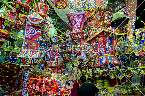 The lanterns of the holy month of Ramadan