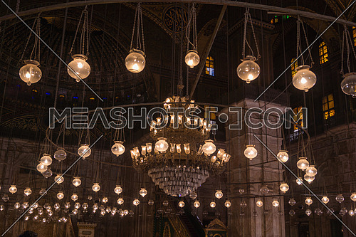 Inside the Mosque of Mohamed Ali citadel