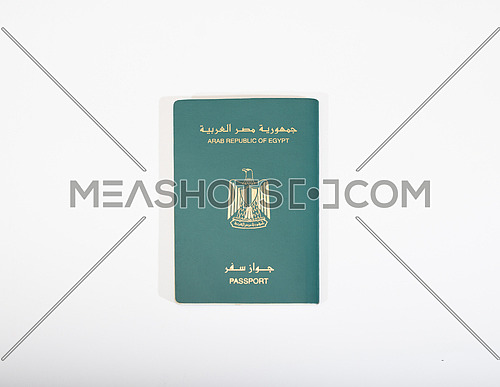 Egyptian passport isolated on white