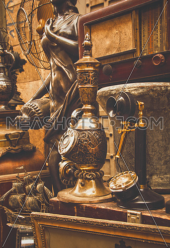 Antique phone In a shop in El-Moez Street