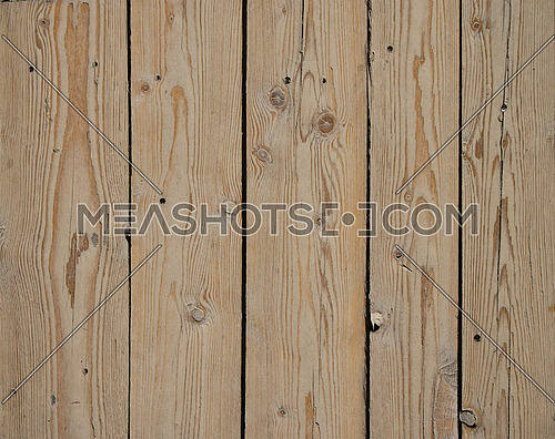 Old dark vintage rustic aged antique wooden sepia panel with vertical gaps, planks and chinks