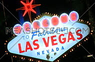 Welcome to Vegas sign at night - fast zoom in (3 of 4)