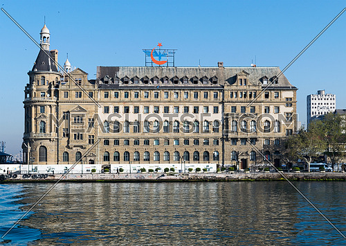 Haydarpasha Railway Terminal, situated in the Bosphorus south of the Port of Haydarpasha, Kadikoy, Istanbul, Turkey, built in 1909 and closed in 2013 due to the rehabilitation of the Marmaray line