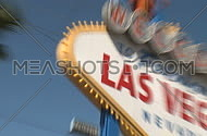 Welcome to Las Vegas sign - fast zooms