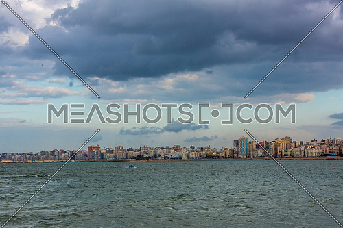 Panorama shot of Alexandria City showing Library of Alexandria at day