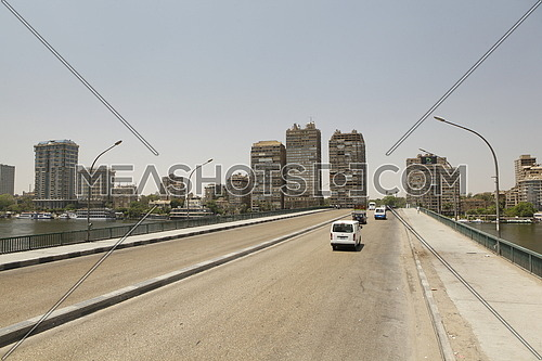 A bridge in cairo Egypt empty on a friday morning