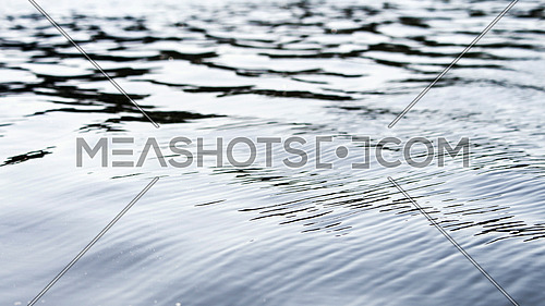 Water surface and waves closeup