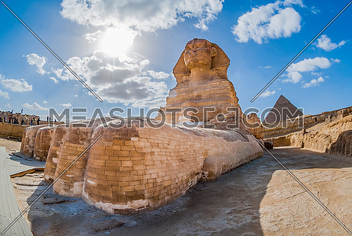 The Sphinx statue in the Giza area