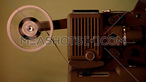 8 mm projector running with vintage film