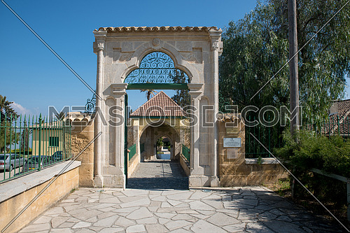 Hala Sultan Tekke mosque by Larnaka salt lake in Cyprus