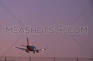 Plane lands in early evening (3 of 4)