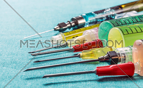 Several Types Of Syringes For Palliative Care, Conceptual Image