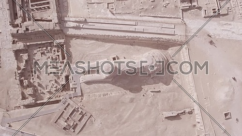 Spriral Top Shot Drone for The Sphinx in Giza at day