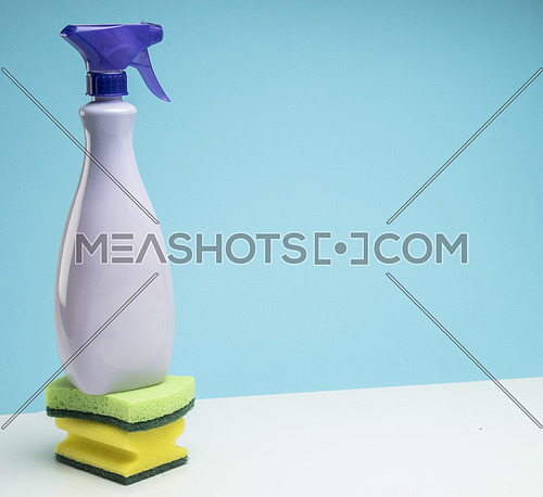 Cleaning pot on scouring pads, conceptual image