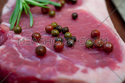 raw uncooked  ribeye beef steak