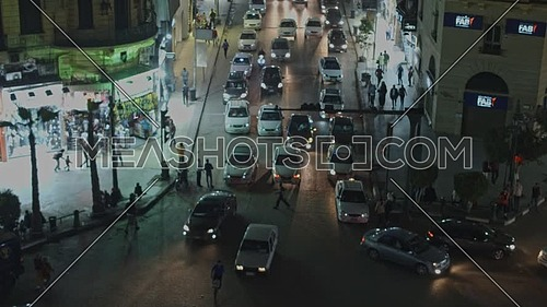 Fly Around Talaat Harb Statue in Cairo at night- November 2018
