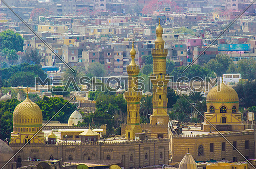 Mosque of Mrs. Nafisa from the top of Salah al - Din Citadel