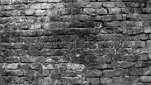 Background of old vintage brick wall in Black And White