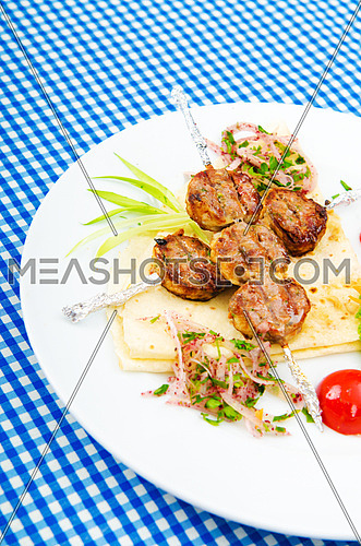 Meat balls served in the plate