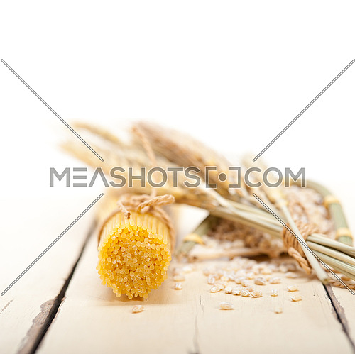 organic Raw italian pasta and durum wheat grains crop