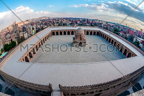 ibn Tulun birds eye view wide angle