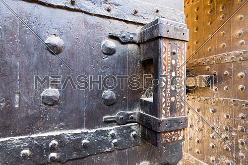 Latch of the gate of the caravansary (Wikala) of Bazaraa