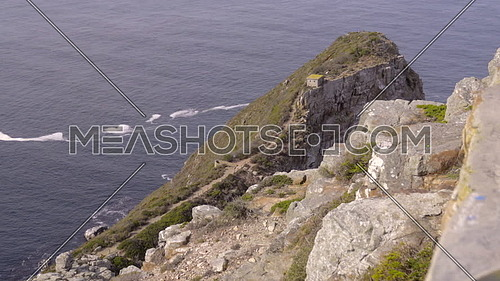 Scene of the rugged cliffside of Cape of Good Hope