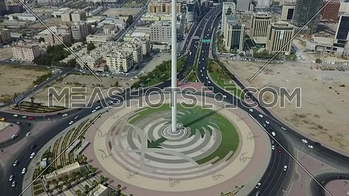 Reveal Drone shot for the longest mast flag in the world Saudi Arabia flag