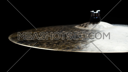 Drum Cymbal Close up Isolated On Black Background