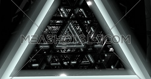 Loop  3d animation, Traveling through a triangles tunnel