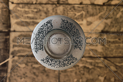 old style ceiling lamp with arabic calligraphy