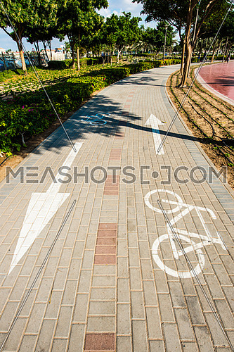 a cycling path